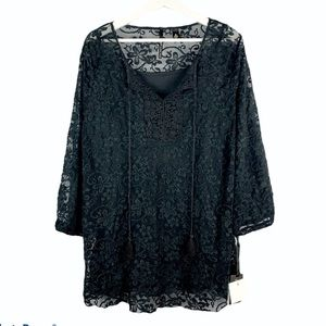 NWT Skye's the Limit Sonoma Valley Lace Blouse 2X
